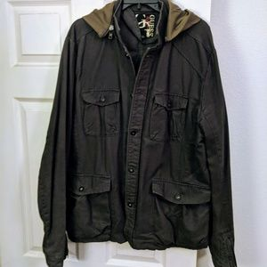 Guess Blue/Gray Jacket with Hood